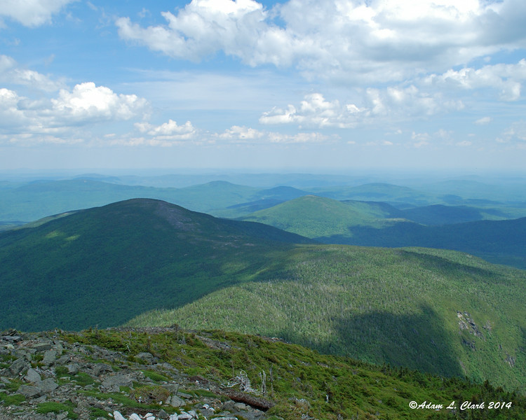 View to the east from Sugarloaf Mountain summit.  Burnt Hill is on the left