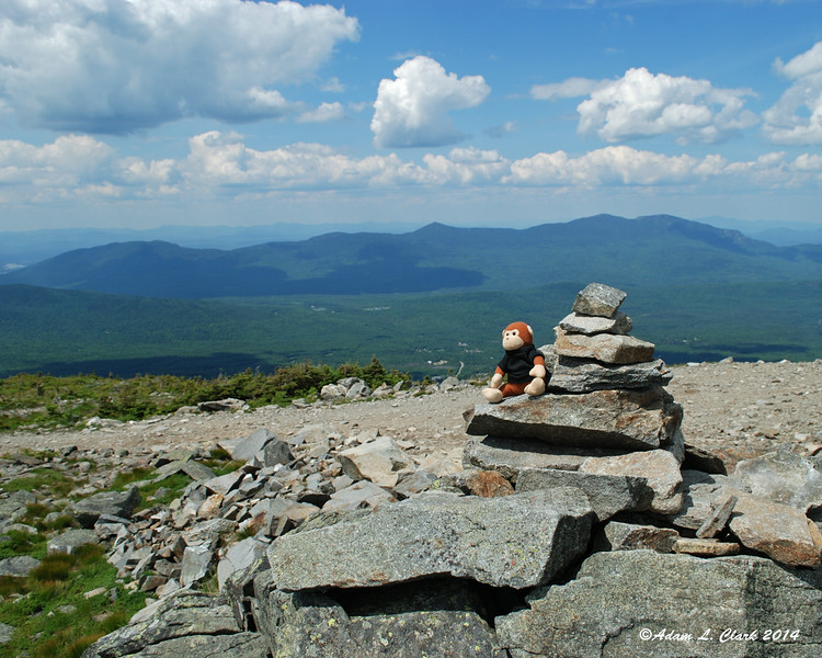 Miles on the summit cairn