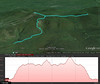 A Google Earth representation of the hike.  Starting at the lower left, working out the right, then upper left, and back