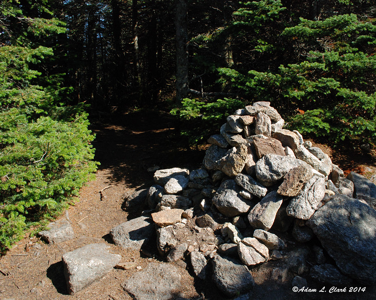 The summit cairn on Mt. Field