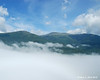 At one of the open ledge viewpoints, I was just above the fog in the valley with a nice view over to Mt. Washington