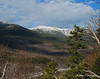 A snow capped Mt. Washington across the valley