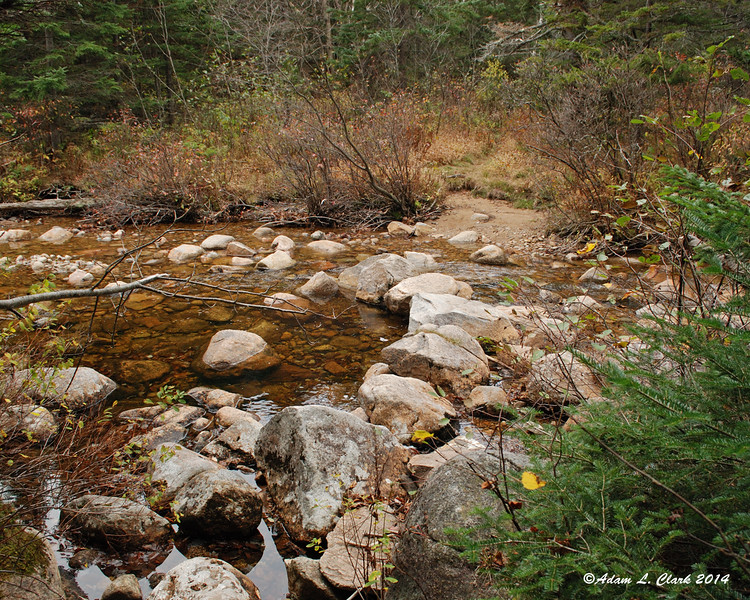Whitewall Brook was easier to cross than I expected with these large rocks to cross on