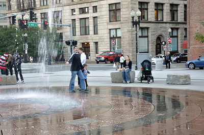 Water Fountains on Milk Street between Atlantic and Surface
