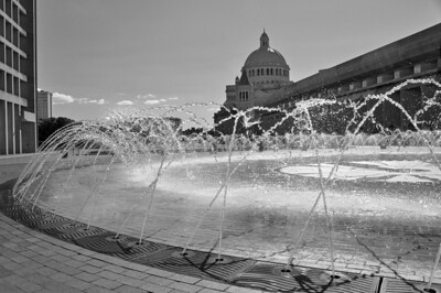 Fountains at the Christian Science building in Boston, MA