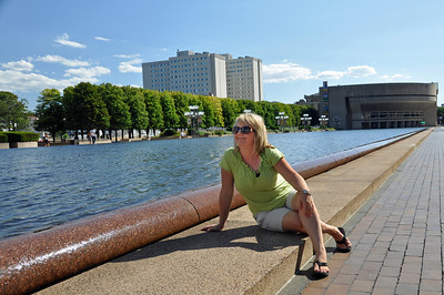 Kim at the Reflecting Pool in Boston, MA