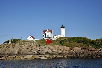 Wider view of Nubble Lighthouse