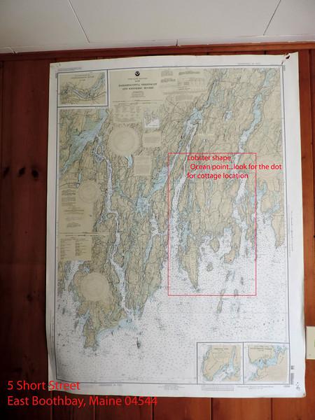Blue Lobster Cottage Map