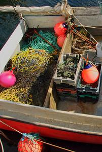 Inside a lobster boat