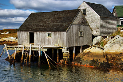 Dock house in Peggy's Cove