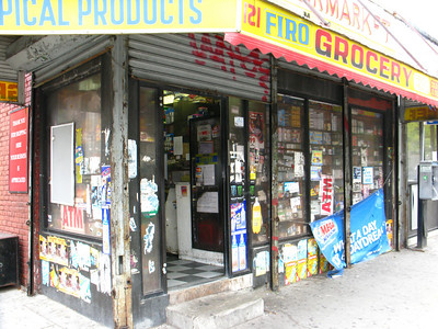 Typical corner store in Brooklyn