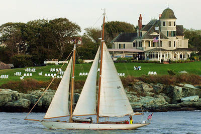 Newport, Rhode Island home and sailboat