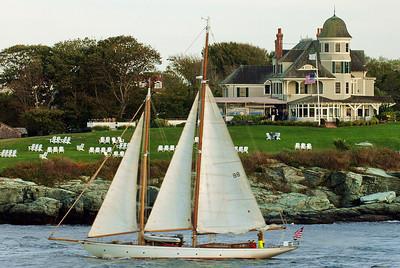 Newport, Rhode Island home and sailboat