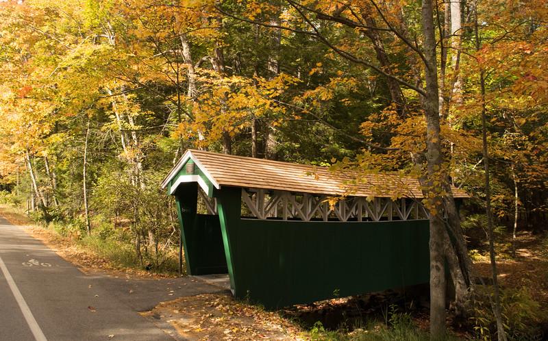 The covered bridge on Temple Avenue, Ocean Park, Maine.