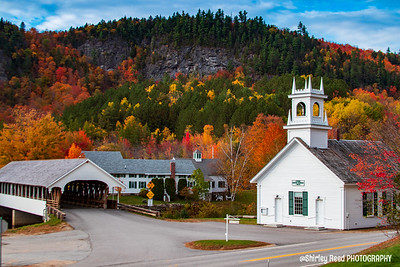 Stark Nh Union church and Covered Bridge