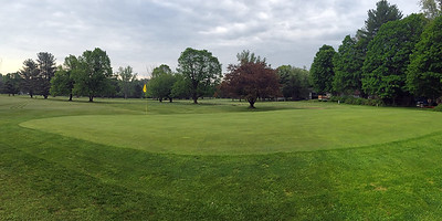Golf green at New Hampshire, USA golf course 2016