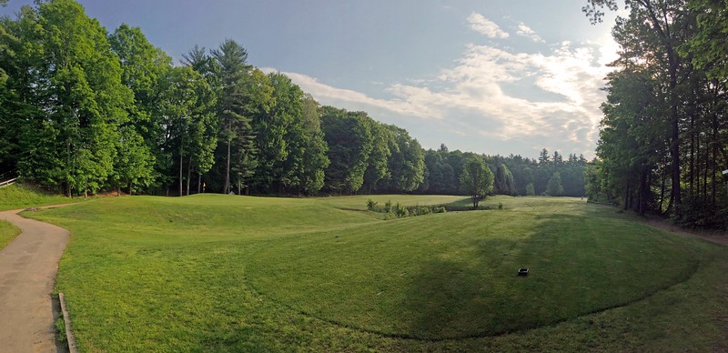5th and 6th hole at Indian Mound Golf Course in Center Ossipee, New Hampshire
