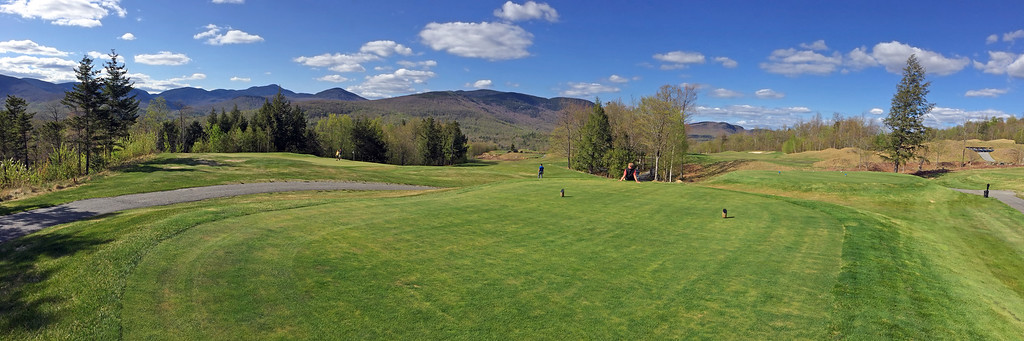 First tee view panorama at Sunday River Golf Club in Newry, Maine