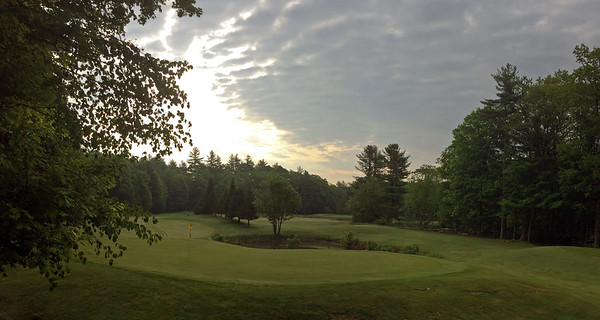 Golf green panorama at Indian Mound Golf Club in Ossipee, New Hampshire USA