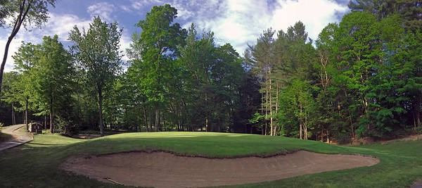 16th green at  Indian Mound Golf Club in Center Ossipee, New Hampshire USA