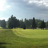 Indian Mound Golf Course green panorama in Ossipee, New Hampshire USA