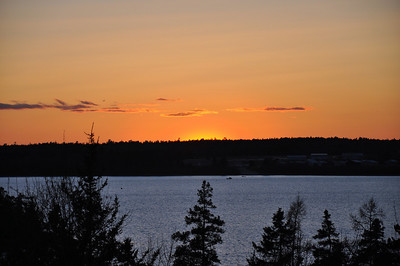 Sunset view from the balcony deck of the vacation home we rented.