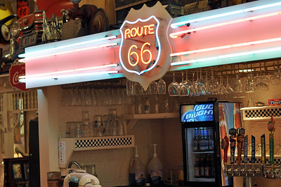 Old time bar at the Route 66 Restaurant.
