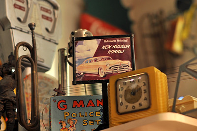 The Route 66 Restaurant was filled with 1000's of old signs, toys and antique items.
