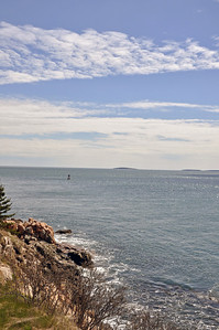 Ocean view from the Bass Harbor Head Lighthouse.