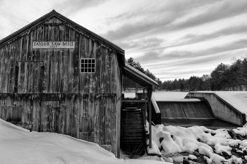 Taylor Saw Mill in Black and White