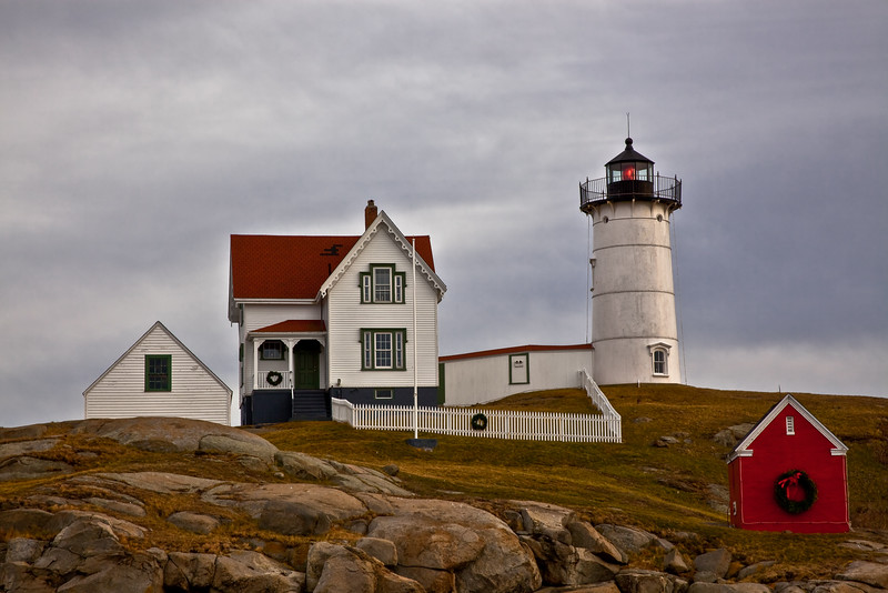 """The Nubble Lighthouse""    Cape Reddick.  York, Maine."