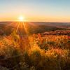 Panoramic sunrise over Hogback Mountain