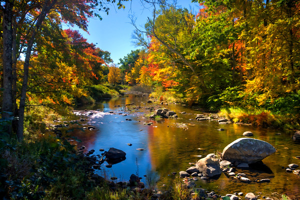 Piscataquog River View in Fall