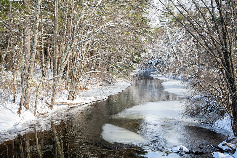 NH Trout Stream in Winter