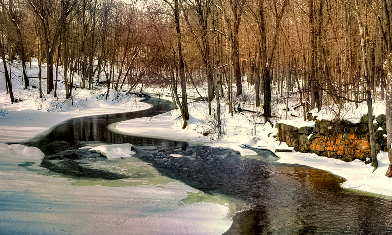 Nissittissett River in Winter