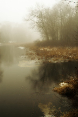 Winter Fog II - 2nd Prize Winner Chelmsford Art Society July 4th 2012 Art Show.  SOLD at show!
