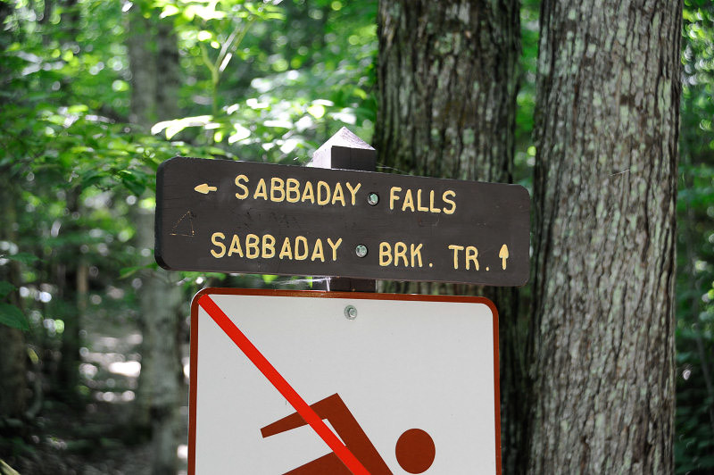 We took a hike to Sabbaday Falls