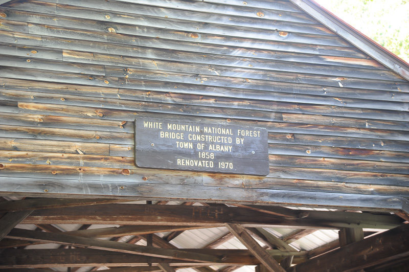 A covered bridge in White Mountain National Forest