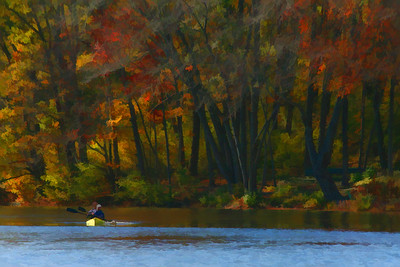 Canoe on the Charles River, Natick, Ma