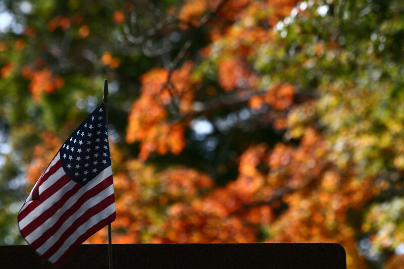 Flag with fall colors