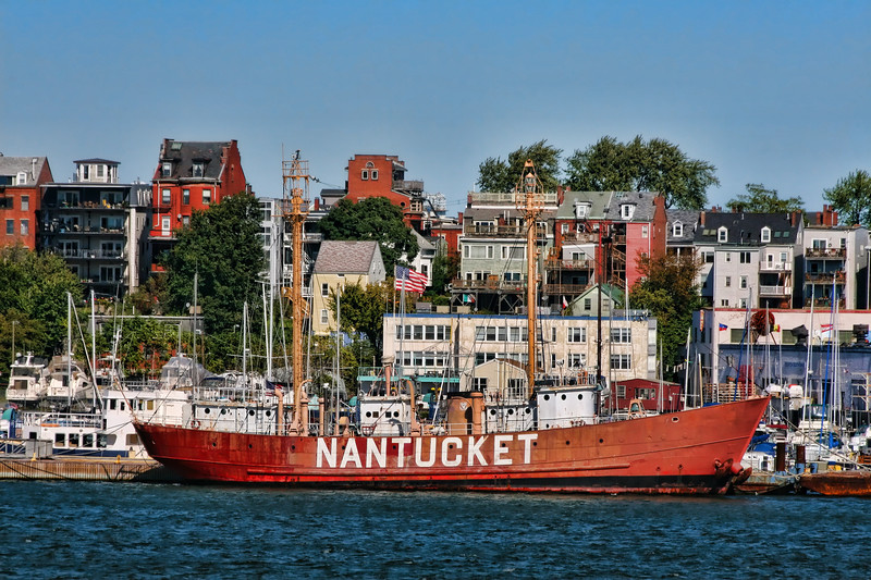 """The Nantucket was used as a floating lighthouse built in 1950. From 1950 to 1969 it served as """"The San Francisco"""" and was stationed 3 miles off the Golden Gate Bridge.  From 1969 to 1971 it served as """"Blunts Reef""""  off Cape Mendicino, California.  The ship came to the East Coast in 1971 and served as the """"Portland"""" off Portland, Maine until 1975. The Nantucket then was stationed  45 miles southeast of Nantucket Island and was decommissioned in 1985.  http://www.nantucketlightship.com/nls_history_specs.pdf"""