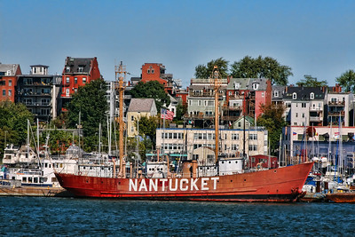 "The Nantucket was used as a floating lighthouse built in 1950. From 1950 to 1969 it served as ""The San Francisco"" and was stationed 3 miles off the Golden Gate Bridge.  From 1969 to 1971 it served as ""Blunts Reef""  off Cape Mendicino, California.  The ship came to the East Coast in 1971 and served as the ""Portland"" off Portland, Maine until 1975. The Nantucket then was stationed  45 miles southeast of Nantucket Island and was decommissioned in 1985.  http://www.nantucketlightship.com/nls_history_specs.pdf"