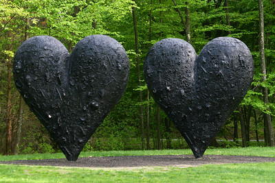 DeCordova Museum and Sculpture Park, Lincoln, MA Two Big Black Hearts by Jim Dine  http://decordova.com/decordova/sculp_park/dine.html  see the other two close ups of this sculpture in this gallery