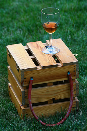 Wine and Bocce ball for a summer afternoon