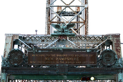 One of the bridges to Maine, The Memorial Bridge.  The bridge is raised every half hour on the half hour for boat traffic on the Piscataqua River