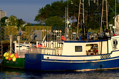 the working end of the lobster boats