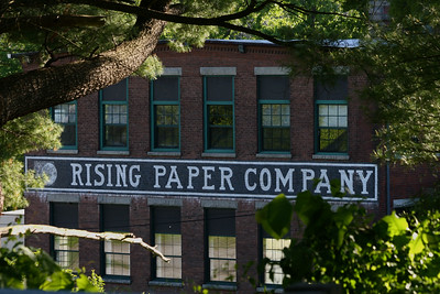 Housatonic MA – This paper mill was built in the late 1800's as the Rising Paper Mill.  In 1975 it was added to the National Register of Historic Places because it is a unique example of Victorian Industrial Architecture with its twin towers and mansard roof.  http://www.iberkshires.com/story/28901/Hazen-Paper-Reopens-Housatonic-Mill.html