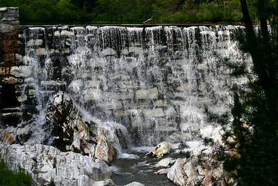 http://www.mass.gov/dcr/parks/western/nbdg.htm Home to  the only naturally formed white marble arch and man-made white marble dam in North America