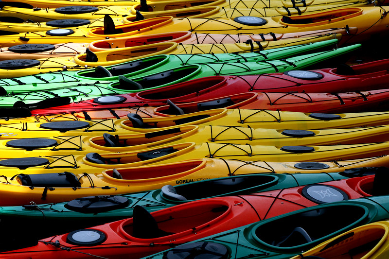 Kayaks in Rockport, Ma