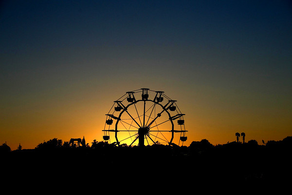 The Amusement Park at sunset, Old Orchard Beach, Maine
